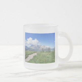 Frosted Mug With Sella Massif View