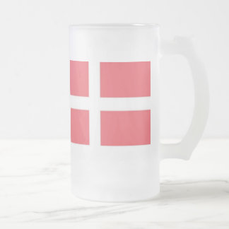 Frosted Mug with the Danish Flag