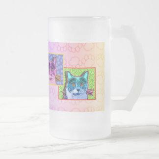 Frosted, Mugs - Pop Art Cat