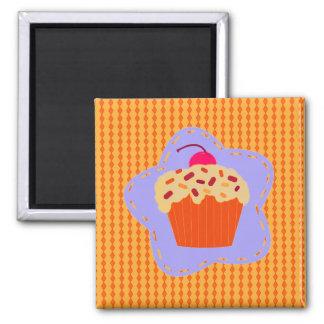 Frosted Orange Cupcake Fridge Magnet