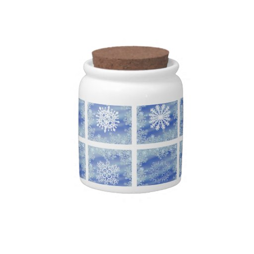 Frosted Panes Candy Jars