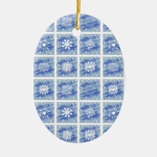 Frosted Panes Ceramic Ornament