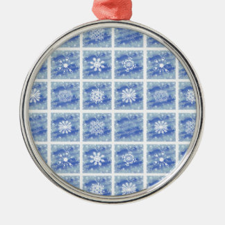 Frosted Panes Metal Ornament