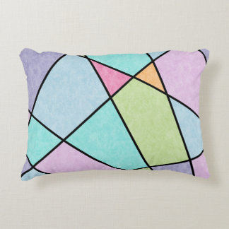 Frosted pastel abstract geometric Accent pillow