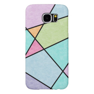 Frosted pastel abstract geometric design samsung galaxy s6 cases