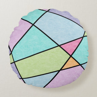 Frosted pastel abstract geometric Throw pillow