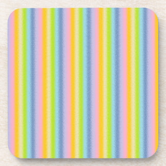 Frosted Pastel Vertical Rainbow Coasters