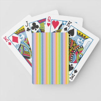 Frosted Pastel Vertical Rainbow Playing Cards