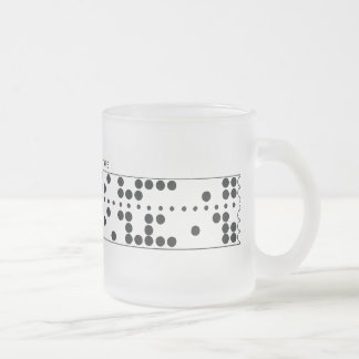 Frosted Perforated Tape Mug