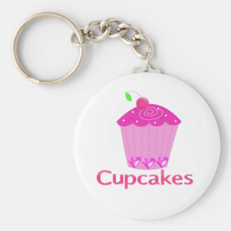 Frosted Pink Cupcake Keychain