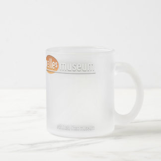 Frosted platen mug with log/