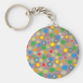 Frosted Polka Dots Keychain