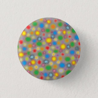 Frosted Polka Dots Pinback Button