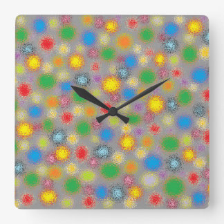 Frosted Polka Dots Square Wall Clock