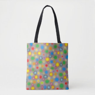 Frosted Polka Dots Tote Bag