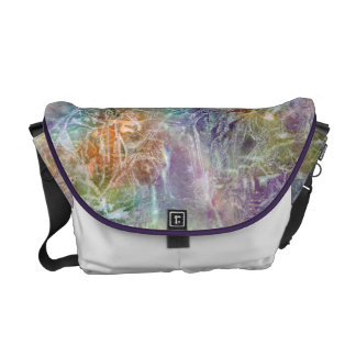 Frosted Rainbow Abstract Courier Bag
