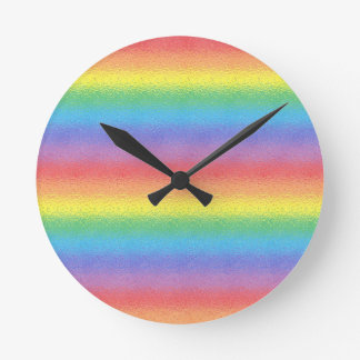 Frosted Rainbow Clock