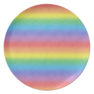 Frosted Rainbow Melamine Plate