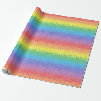 Frosted Rainbow Wrapping Paper