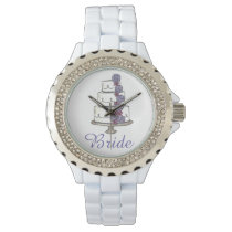 Frosted Rose Roses Wedding Cake Bride Bridal Watch