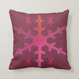 Frosted Snowflake Throw Pillow