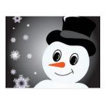 Frosted Snowman Postcard