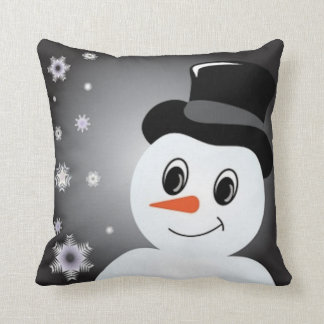 Frosted Snowman Throw Pillow