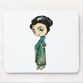 Frosted Spring Geisha Mouse Pad