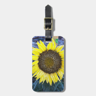Frosted Sunflower Photogrpah Luggage Tag