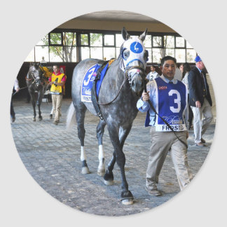 Frosted the Pennsylvania Derby Winner Classic Round Sticker