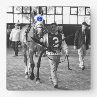 Frosted the Pennsylvania Derby Winner Square Wall Clock