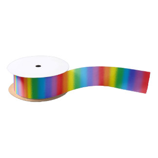Frosted Vertical Rainbow Ribbon