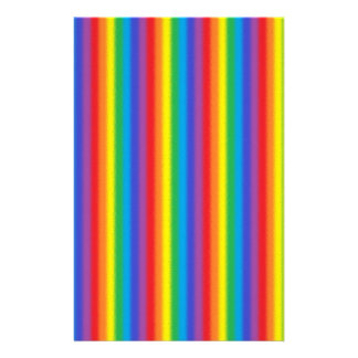 Frosted Vertical Rainbow Stationery