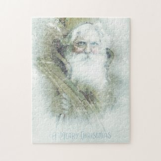 Frosted vintage Santa Claus Jigsaw Puzzle