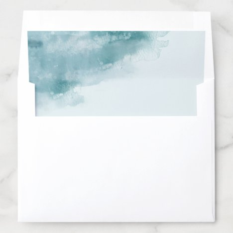 Frosted Watercolor Envelope Liner