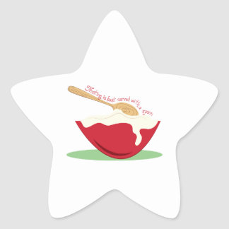 Frosting is best Served With A Spoon Star Stickers