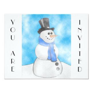 Frosty 4.25x5.5 Paper Invitation Card