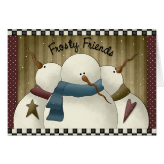 Frosty and friends holiday card