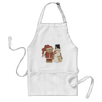 Frosty and Santa Adult Apron