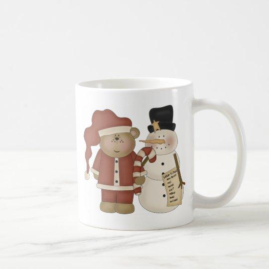Frosty and Santa Coffee Mug