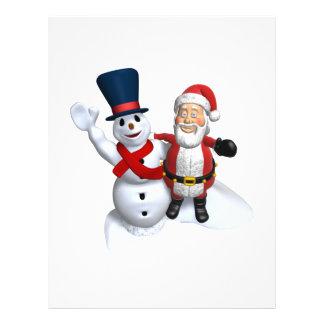 Frosty And Santa Flyer Design