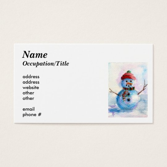 Frosty Avery Business Card