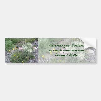 Frosty Ball: Alpine Wildflowers Bumper Stickers