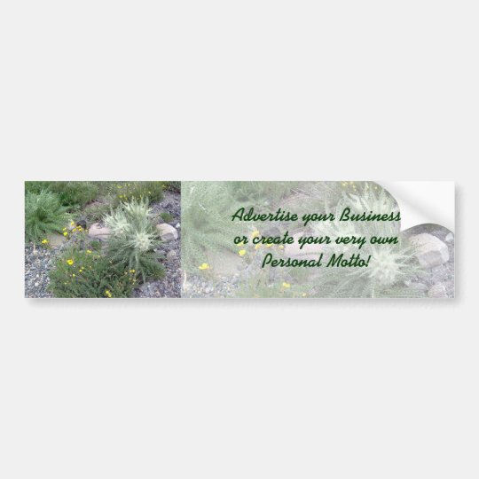 Frosty Ball Alpine Wildflowers Bumper Sticker