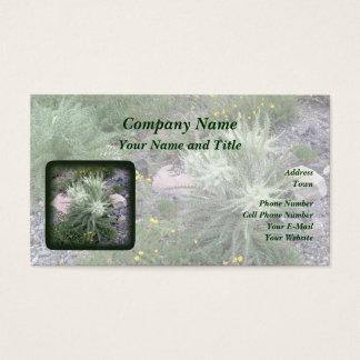 Frosty Ball Alpine Wildflowers Business Card