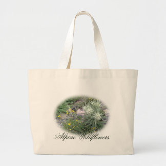 Frosty Ball Alpine Wildflowers Large Tote Bag