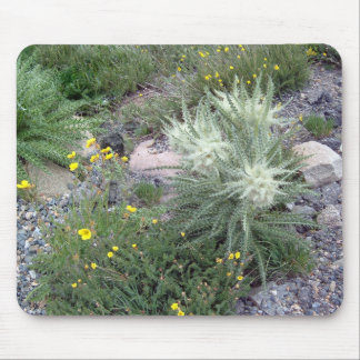 Frosty Ball Alpine Wildflowers Mouse Pad