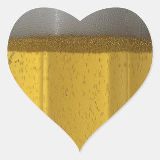 Frosty Beer Glass Heart Sticker