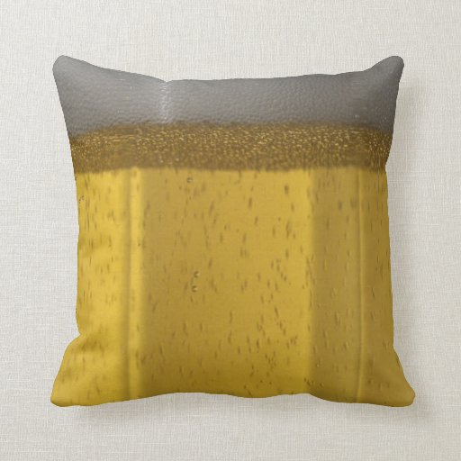 Frosty Beer Glass Throw Pillow