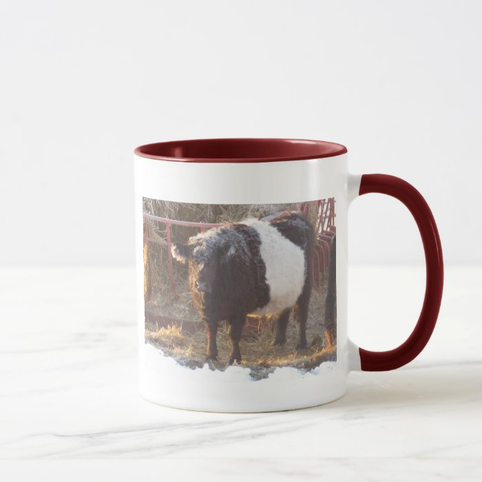 Frosty Belted Galloway Cow Mug